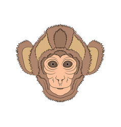 Image of the head is monkey graphics hand vector
