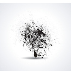 Ink pen and ink blot on the white background vector image