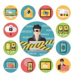Internet web security vector