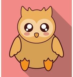 Kawaii owl icon cute animal graphic vector