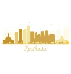 Kinshasa City skyline golden silhouette vector