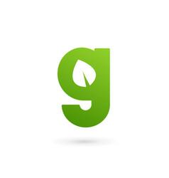 Letter g eco leaves logo icon design template vector
