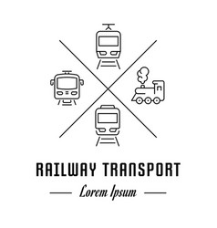 line banner railway transport vector image