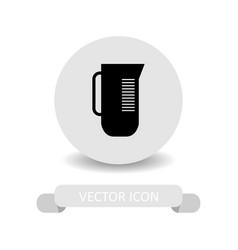 measuring cup icon vector image