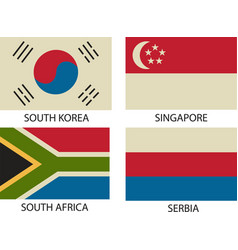 national flags symbol vector image vector image