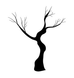 Nature tree stalk with branches plant vector