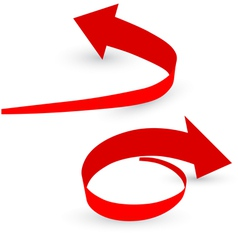 origami red arrow paper vector image vector image