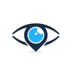 pin eye logo icon design vector image