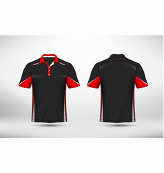 red black and white layout e-sport t-shirt design vector image