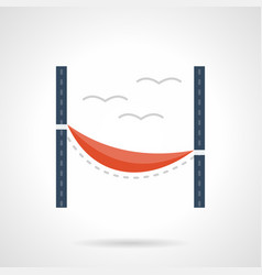 red hammock flat color icon vector image