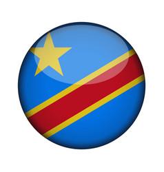 Republic congo democratic flag in glossy vector