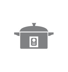 Rice cooker icon template vector