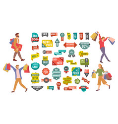 Set big sale banners best price advertising vector
