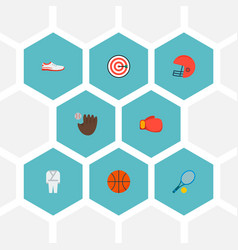 set of sport icons flat style symbols with tennis vector image