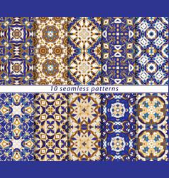 Set of ten seamless abstract patterns vector