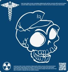 Skull X ray 8 vector