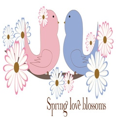 Spring Love Blossoms vector image