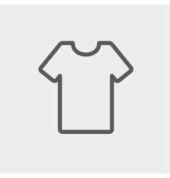 T-shirt thin line icon vector image