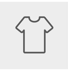 T-shirt thin line icon vector