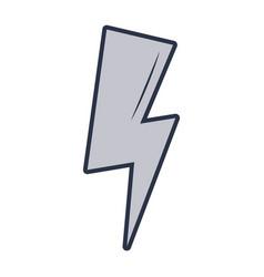 Thunder energy cartoon vector