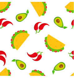 traditional taco day seamless pattern vector image