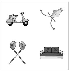 transport sport and other monochrome icon in vector image