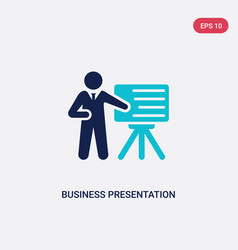 Two color business presentation icon from humans vector