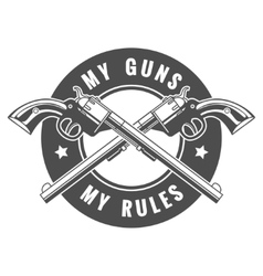 two guns vector image