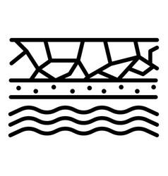Underground water icon outline style vector