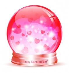 valentine day globe vector image