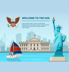 american urban landscape with historical vector image