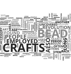 Bead crafts text word cloud concept vector
