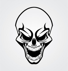 Black Skull Tribal vector image