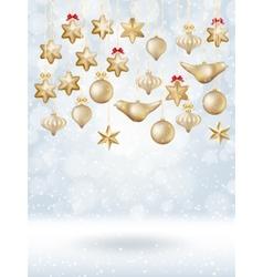 Christmas bokeh poster with Tree EPS 10 vector image vector image