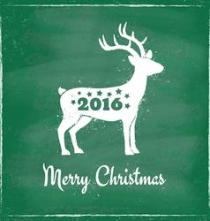deer chalk 2016 green vector image