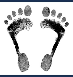 Footprint grunge icon detailed image vector image
