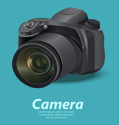realistic camera vector image vector image