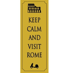 Rome travel card vector image vector image