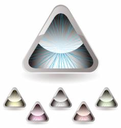 triangle iris vector image vector image