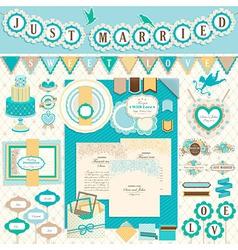 Wedding scrapbooking vector