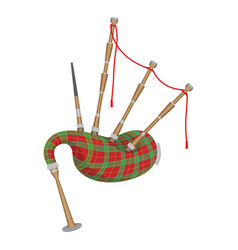 bagpipes isolated on white background wind vector image vector image