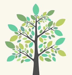 Beautiful green tree vector image