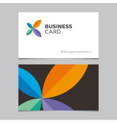 business card 05 vector image vector image