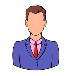 businessman icon cartoon vector image vector image