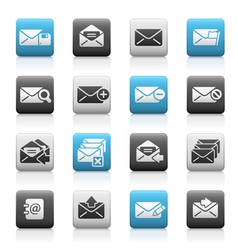 E-mail Icons Matte Series vector image