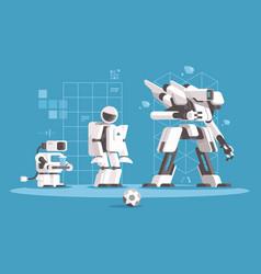 evolution of robotics vector image