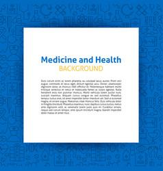 medicine paper template vector image vector image