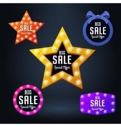 Set of sale banner and emblem vector image