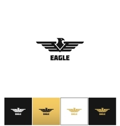 Eagle logo or falcon emblem icon vector image