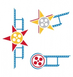 film symbols vector image vector image
